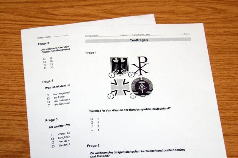 Testul de naturalizare in Germania